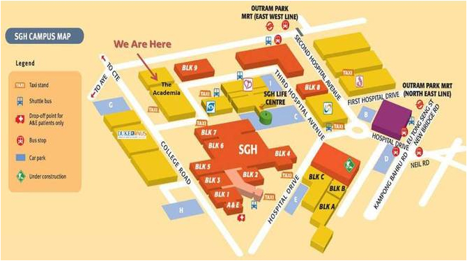 SGH Campus Map