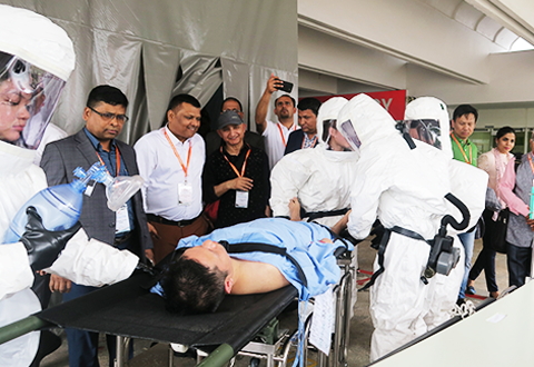 Nepalese medics train at SGH